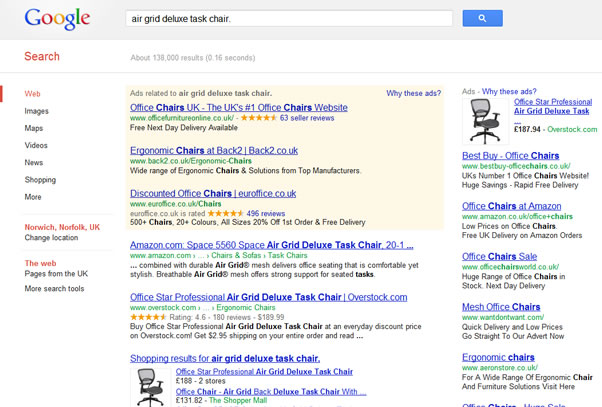 product review microdata in search results
