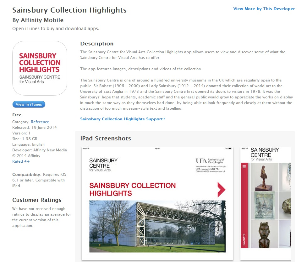 New app launch for The Sainsbury Centre